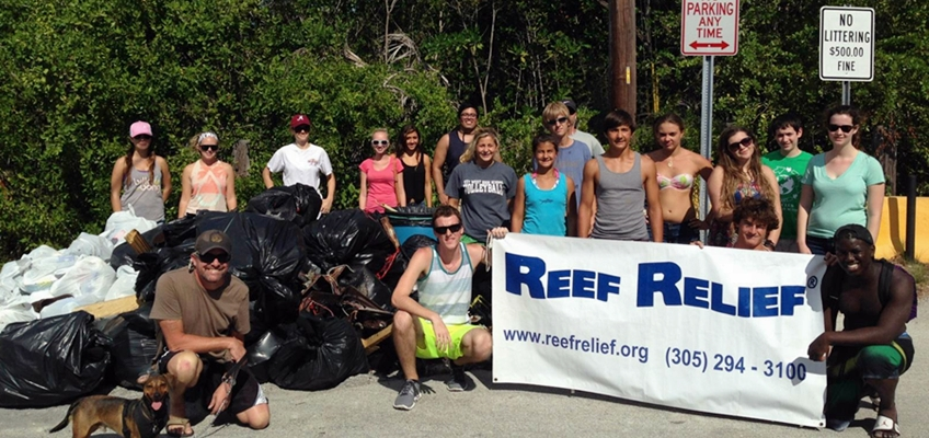 Key West High School Reef Relief Club Cleanup